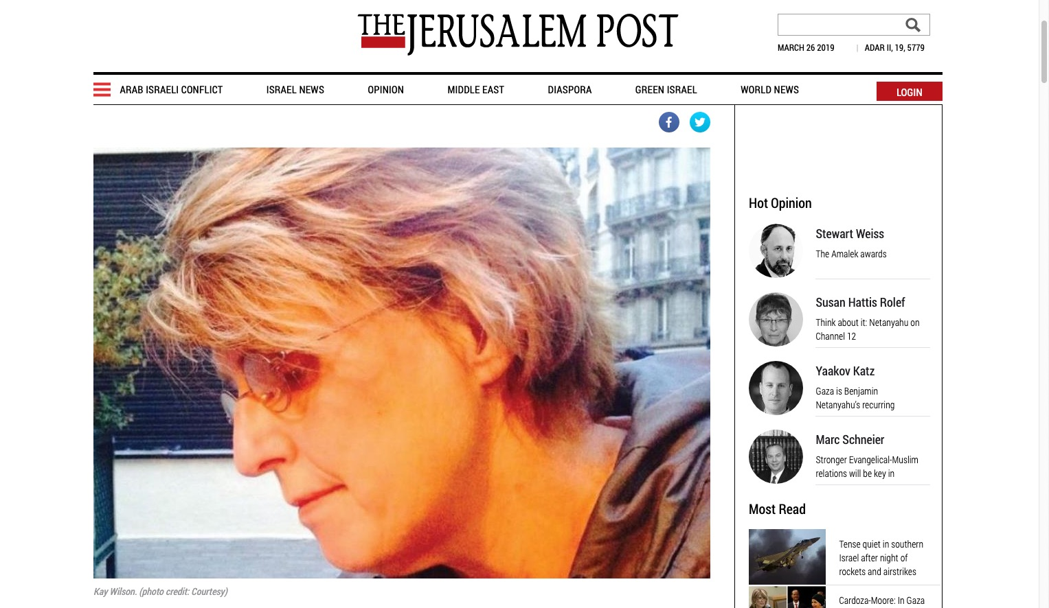 The Rage Less Traveled in the Jerusalem Post