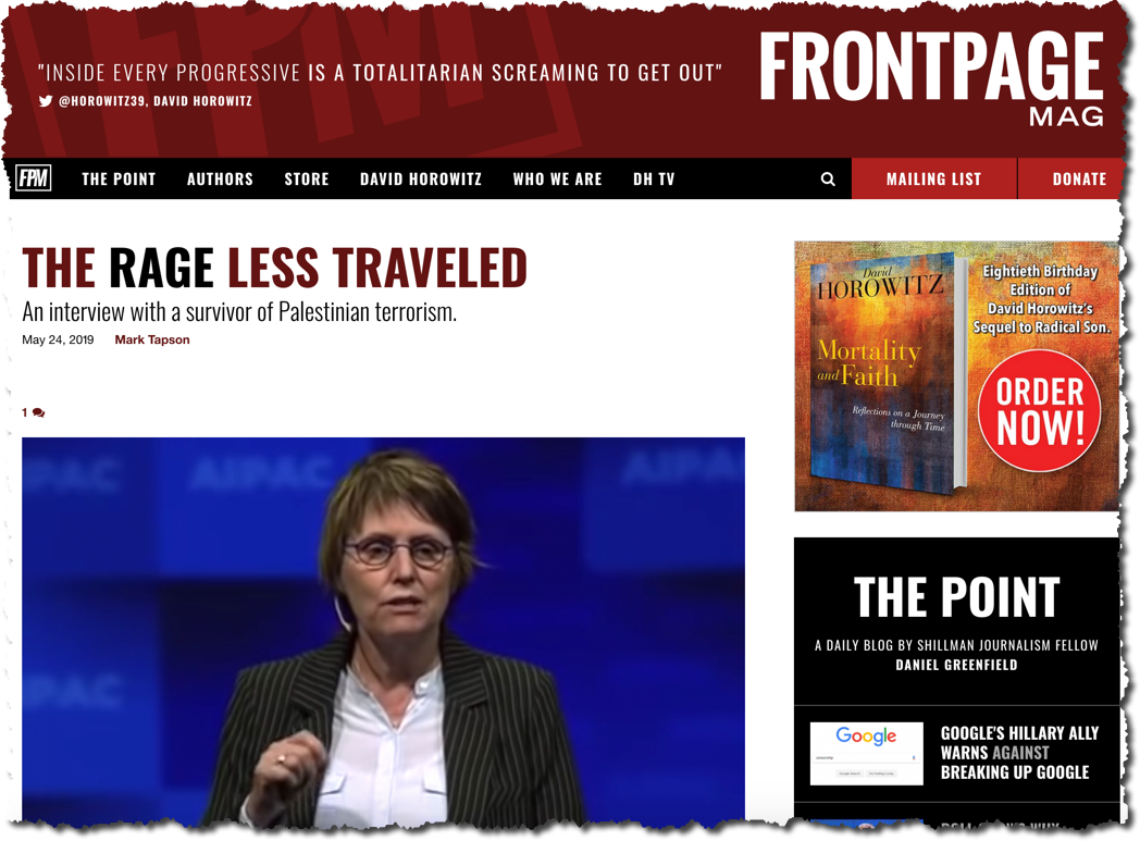 Kay Wilson Interviewed about The Rage Less Traveled in FrontPage Mag